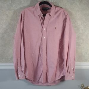 RALPH LAUREN BLUE LABEL | Pink Dress Shirt Size L